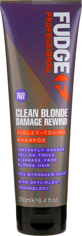 Șampon nuanțator pentru păr - Fudge Clean Blonde Damage Rewind Shampoo