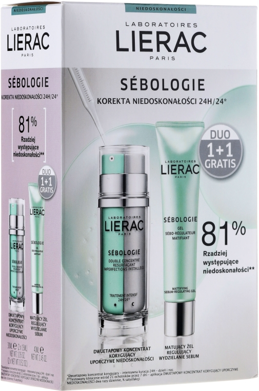 Set - Lierac Sebologie Correction Imperfection (f/concentrate/30ml + f/gel/40ml)
