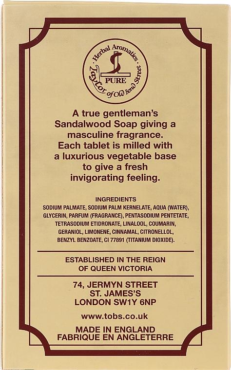 "Săpun ""Lemn de santal"" - Taylor of Old Bond Street Sandalwood Soap — Imagine N2"