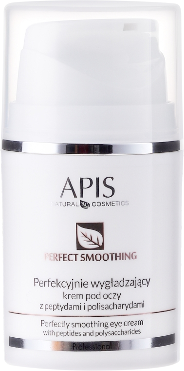 Cremă de ochi cu peptide și polizaharide - APIS Professional Perfectly Smoothing Eye Cream With Peptides and Polysaccharides