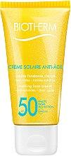 Parfumuri și produse cosmetice Cremă de protecție solară și efect anti-îmbătrânire pentru față - Biotherm Sun Protection Creme Solaire Anti-age SPF 50