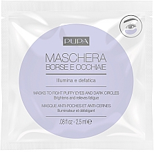 Parfumuri și produse cosmetice Mască împotriva cearcănelor - Pupa Mask To Fight Puffy Eyes And Dark Circles