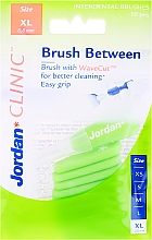 Parfumuri și produse cosmetice Perii interdentară, 0.8mm, XL, 10buc - Jordan Interdental Brush Clinic Brush Between
