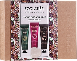 Parfumuri și produse cosmetice Set - Ecolatier Inspiration Set (h/cr/30ml + h/cr/30ml + h/cr/30ml + soap/80g)