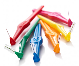 Set perii interdentare - TePe Interdental Brushes Angle 0,4-0,8 mm  — Imagine N2