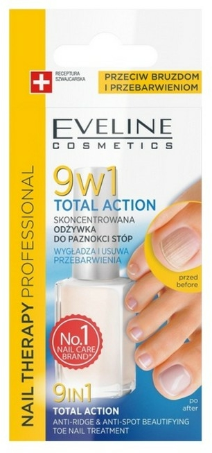 Lac terapeutic de unghii 9în1 - Eveline Cosmetics Nail Therapy Total Action 9w1