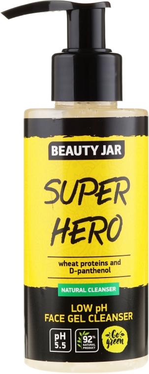 """Gel de curățare pentru față """"Super hero"""" - Beauty Jar Low Ph Face Gel Cleanser"""