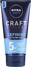 Gel de păr - Nivea Men Craft Stylers Defining Styling Gel — Imagine N1