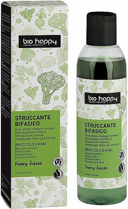 "Demachiant bifazic ""Broccoli și Kiwi"" - Bio Happy Dual Phase Make-up Remover — Imagine N1"