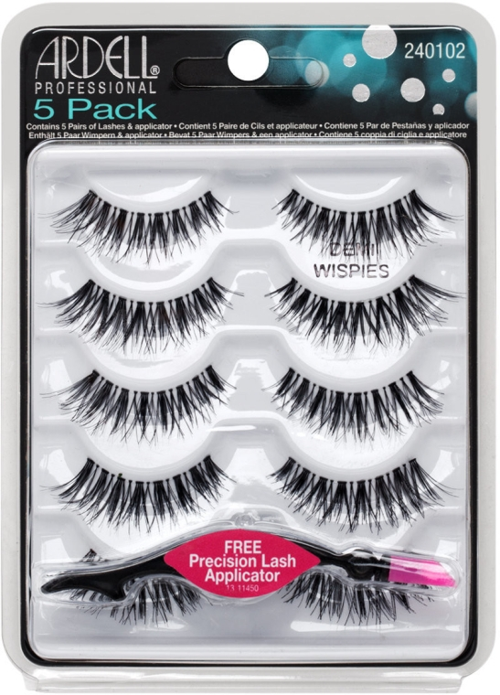Set gene false - Ardell 5 Pack Demi Wispies Black (10 buc.) — Imagine N1