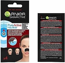 Parfumuri și produse cosmetice Benzi împotriva punctelor negre - Garnier Skin Active Pure Active Anti-Blackhead Charcoal Strips