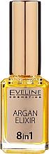 Parfumuri și produse cosmetice Ulei de cuticule pe bază de ulei de Argan 8în1 - Eveline Cosmetics Argan Elixir