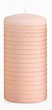 Parfumuri și produse cosmetice Lumânare decorativă, roz-auriu, 7x14 cm - Artman Andalo
