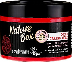 Parfumuri și produse cosmetice Mască pentru protecția culorii părului - Nature Box Pomegranate Oil Maska