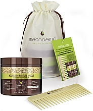 Parfumuri și produse cosmetice Set - Macadamia Professional No Tangle Styler Brush Green (mask/200ml + brush)