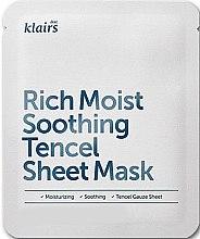 Parfumuri și produse cosmetice Mască de față - Klairs Rich Moist Soothing Tencel Sheet Mask
