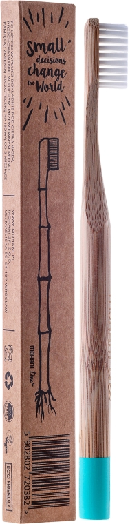 Periuță de dinți moale din bambus (albastru) - Mohani Toothbrush