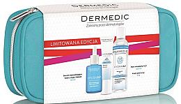 Parfumuri și produse cosmetice Set - Dermedic Hydrain 3 (ser/30/ml+cr/15/ml+mic/water/100/ml+bag)