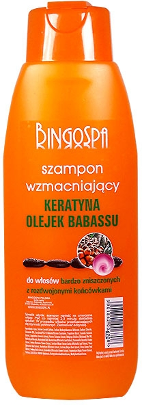 Șampon cu extract de keratină și ulei de babassu - BingoSpa Shampoos Strengthening Of The Keratin And Babassu Oil