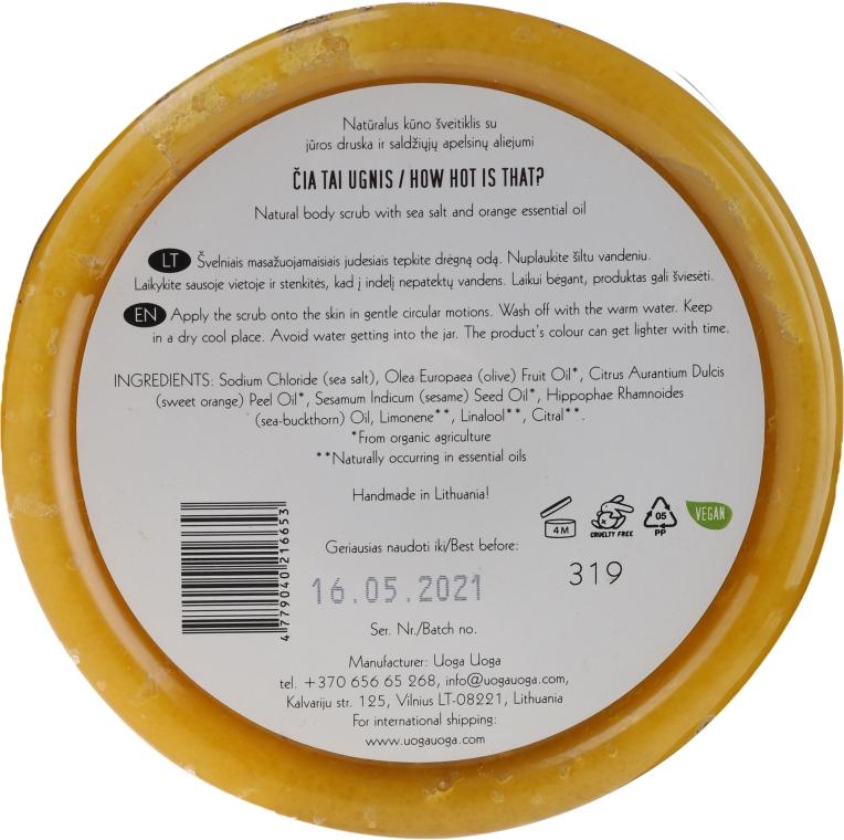 Scrub natural cu sare de mare și ulei de portocale pentru corp - Uoga Uoga Natural Body Scrub Sea Salt And Orange Essential Oil — Imagine N2