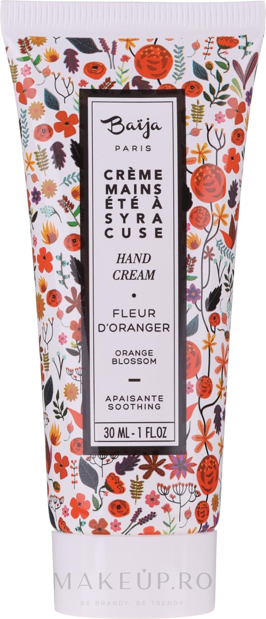 Cremă pentru mâini - Baija Ete A Syracuse Hand Cream — Imagine 30 ml