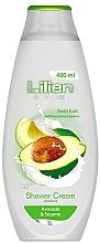 """Parfumuri și produse cosmetice Gel - cremă de duș """"Avocado și susan"""" - Lilien Shower Cream Avocado & Sesame"""