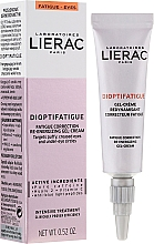 Parfumuri și produse cosmetice Gel-Cremă energizantă pentru zona ochilor - Lierac Dioptifatigue Fatigue Correction Re-Energizing Gel-Cream