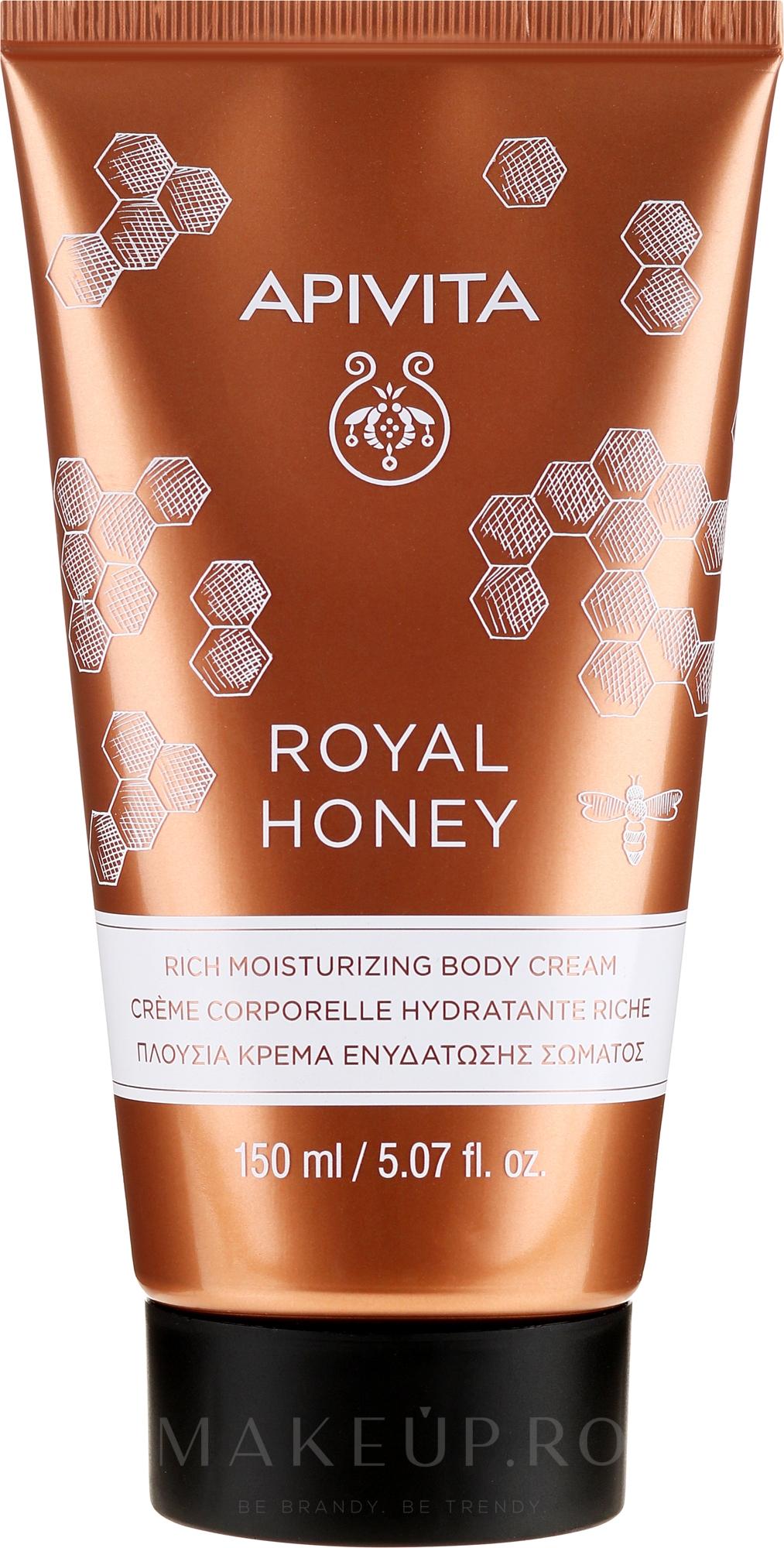 Cremă hidratantă pentru corp - Apivita Royal Honey Rich Moisturizing Body Cream — Imagine 150 ml