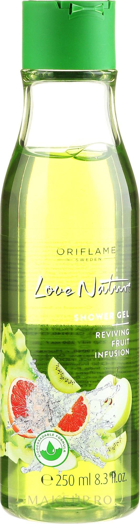 """Gel de duș """"Amestec de fructe"""" - Oriflame Fruit Infusion Reviving Shower Gel — Imagine 250 ml"""