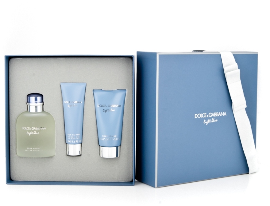 Dolce & Gabbana Light Blue Pour Homme - Set (edt 125 + sh/g 50 + a/sh balm 75) — Imagine N6