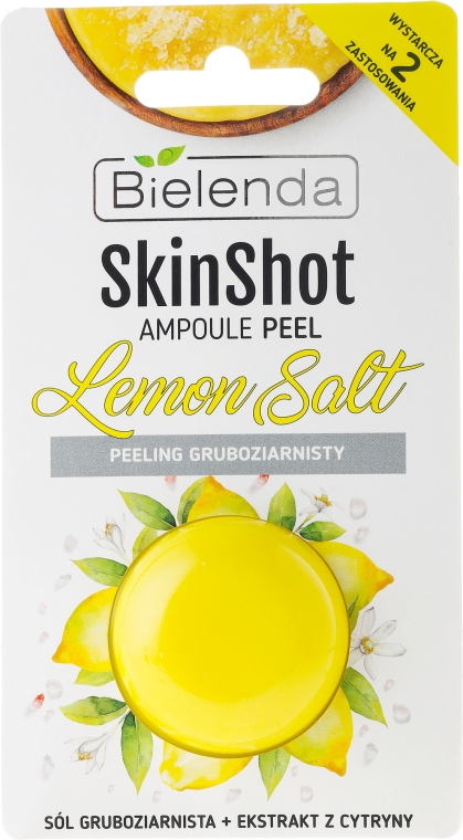 Scrub pentru față - Bielenda Skin Shot Backing Lemon Salt — Imagine N1