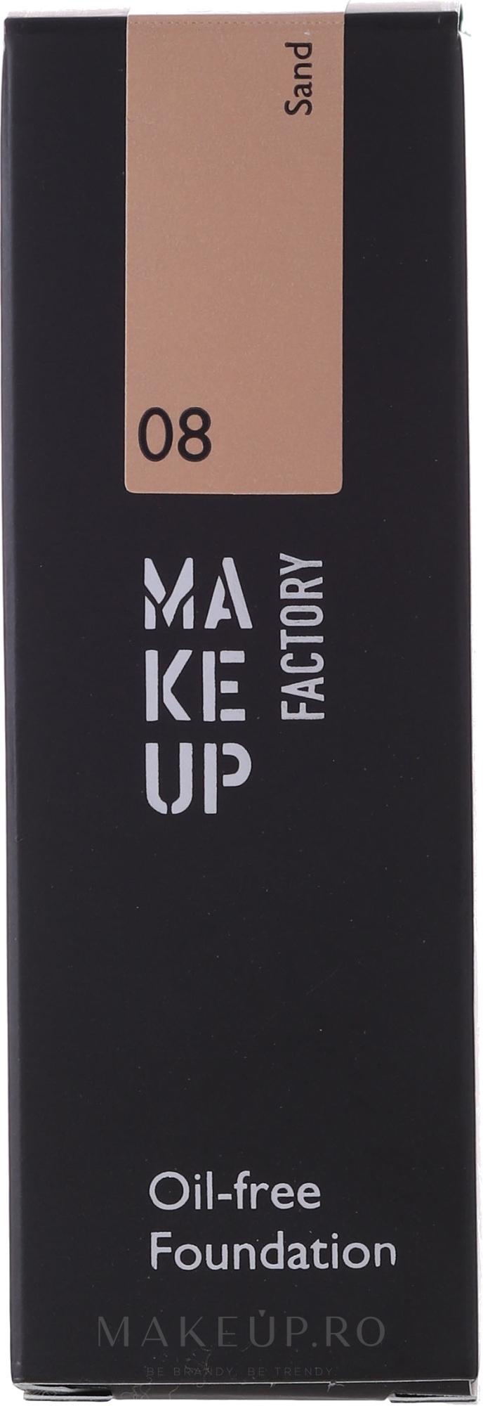 Fond de ten - Make Up Factory Oil Free Foundation — Imagine 08-Sand