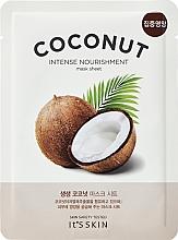 Parfumuri și produse cosmetice Mască de țesut cu extract de cocos pentru față - It's Skin The Fresh Mask Sheet Coconut