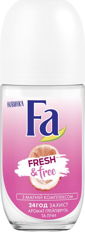 "Deodorant roll-on ""Grapefruit-Lychee"" - FA Fresh & Free Grapefruit & Lychee"