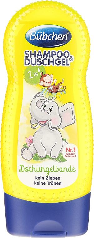 """Șampon- gel de duș pentru copii 2 în 1 """"The Jungle's Name"""" - Bubchen Shampoo and Shower — Imagine N1"""