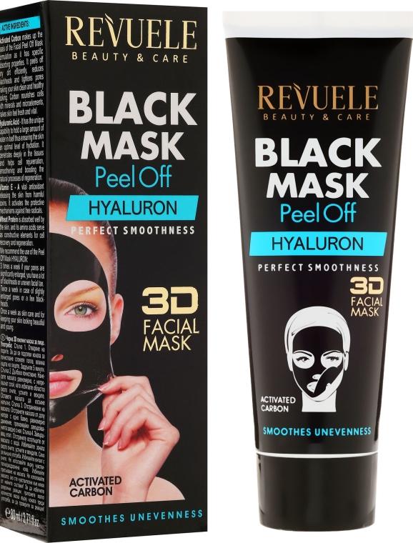 "Mască neagră pentru față ""Hyaluronic"" - Revuele Black Mask Peel Off Hyaluron"