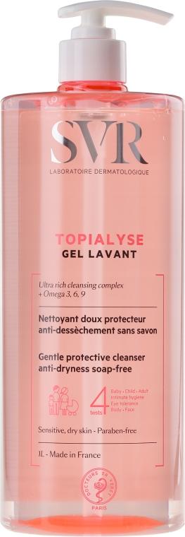 Gel de curățare pentru ten sensibil și uscat - SVR Topialyse Gel Lavant — Imagine N5