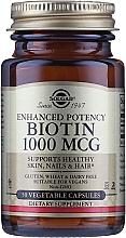 """Parfumuri și produse cosmetice Supliment nutritiv dietetic """"Biotin"""" 1000mcg - Solgar Enhanced Potency Biotin"""
