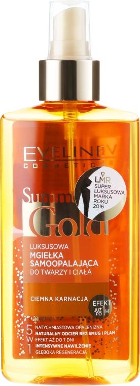 Spray pentru față și corp - Eveline Cosmetics Summer Gold Spray