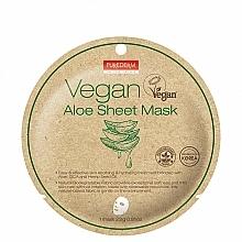 Parfumuri și produse cosmetice Mască de țesut cu aloe - Purederm Vegan Sheet Mask Aloe
