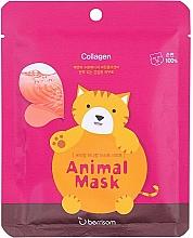 Parfumuri și produse cosmetice Mască de țesut cu colagen marin - Berrisom Animal Mask Collagen Series Cat