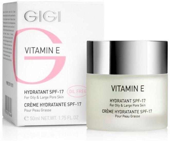 Cremă hidratantă pentru tenul gras - Gigi Vitamin E Moisturizer for oily skin SPF 17 — Imagine N1