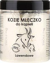 """Parfumuri și produse cosmetice Lapte de baie pe bază de lapte de capră """"Lavandă"""" - E-Fiore Lavender Bath Milk"""