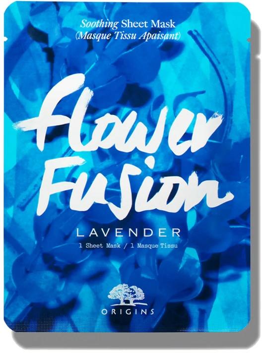 Mască calmantă din țesătură cu lavandă pentru față - Origins Flower Fusion Lavender Soothing Sheet Mask — Imagine N1
