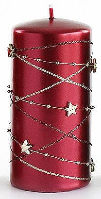 Lumânare decorativă, bordo, 7x18 cm - Artman Christmas Garland — Imagine N1