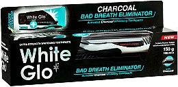 Parfumuri și produse cosmetice Set pentru îngrijirea dinților - White Glo Charcoal Bad Breath Eliminator (t/paste/100ml + t/brush/1)