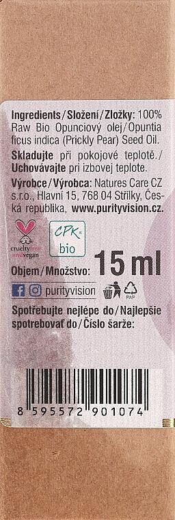 Ulei organic de Opuntia - Purity Vision 100% Raw Bio Oil — Imagine N3