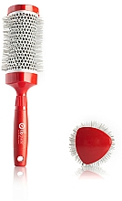 Parfumuri și produse cosmetice Thermobrushing 53 mm - Upgrade Triangular Concave Thermal Brush Red Angle