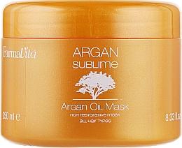 Mască cu ulei de argan pentru păr - Farmavita Argan Sublime Mask — Imagine N2
