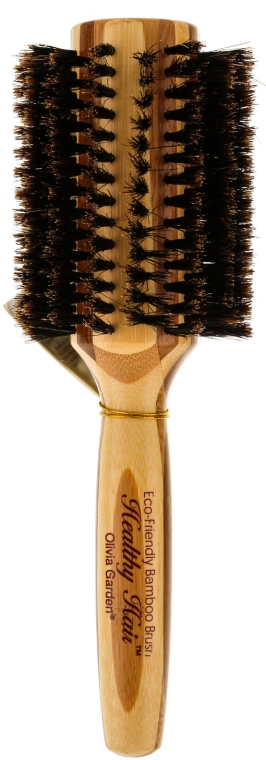 Perie Brushing de bambus, cu peri naturali, d.40 - Olivia Garden Healthy Hair Boar Eco-Friendly Bamboo Brush — Imagine N1